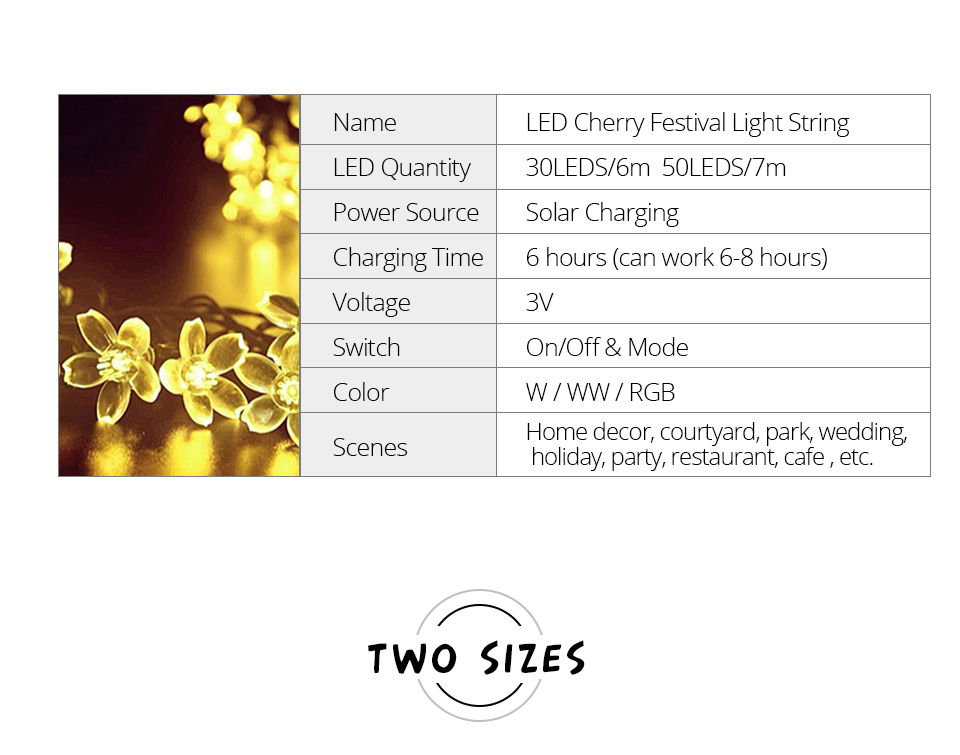Solar String Lights 3050 LED Garland Outdoor Flower LED String Fairy Christmas Tree Light Party Wedding New Year Decoration (3)