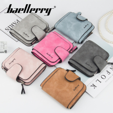 Baellerry 11 Color Women PU Wallet Photo Holder Moneybag Coin Pocket Casual Solid Zipper Short Organizer Female