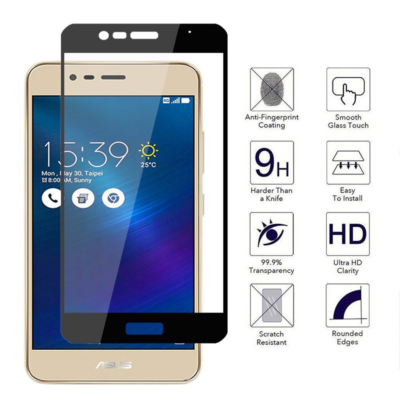 For <font><b>Zenfone</b></font> <font><b>3</b></font> <font><b>Max</b></font> Full Coverage Tempered Glass For <font><b>Asus</b></font> <font><b>Zenfone</b></font> <font><b>3</b></font> <font><b>Max</b></font> <font><b>ZC520TL</b></font> X008D 9H Premium Screen Protector Film Sklo Case image