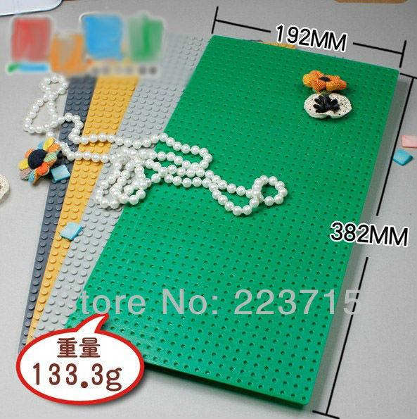 Безкоштовна доставка! 3шт * Пластина 24x48 * 38x19cm DIY просвітити блок цеглини, сумісні з Lego збирає частинок