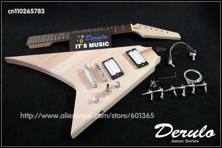Kit de guitare électrique bricolage corps et cou en acajou massif