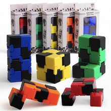 5 Colors Fidget Cube Finger Toys 4*4*4cm Anti Anxiety Stress Puzzle Stress Relief Toy Cube Magic Cube to Kid Toys Gifts