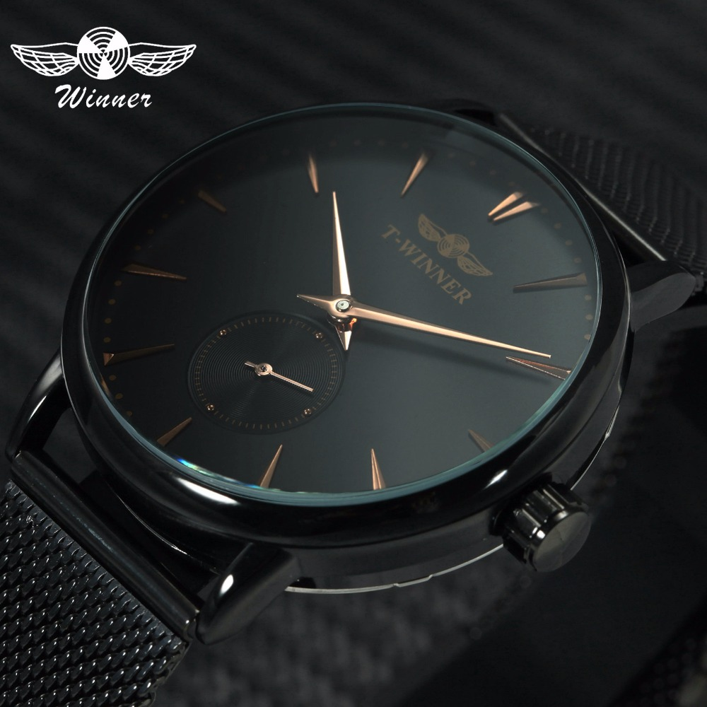 Men's Watches Watches Winner Classic Golden Skeleton Mechanical Watch Men Stainless Steel Strap Top Brand Luxury Man Watch Vip Drop Shipping Wholesale Punctual Timing