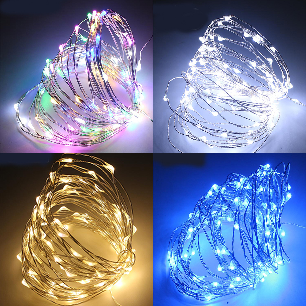 10m 100 LED Kobber Wire AA Batteridrevet String Fairy Light - Ferie belysning - Bilde 6