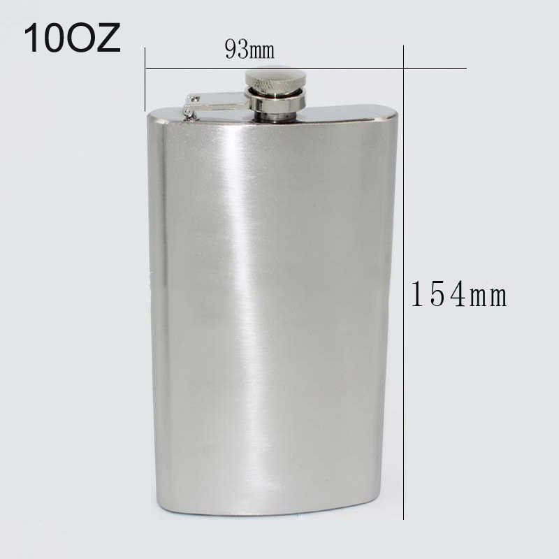 Stainless Hip Liquor Whiskey Alcohol Pocket Flask+Funnel Xmas OfDLUK