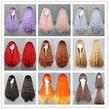 Mcoser нью-harajuku длинные вьющиеся волнистые волосы полный парики косплей ну вечеринку аниме лолита парик