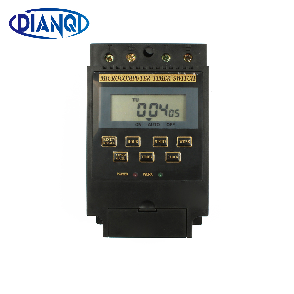 Weekly Time Control Programmable Time Switch  Digital LCD Relay Rail Timer