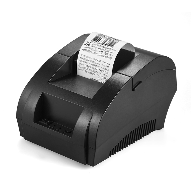 Aibecy POS-5890K USB 58mm Thermal Printer Receipt Printer Barcode Bill Ticket POS