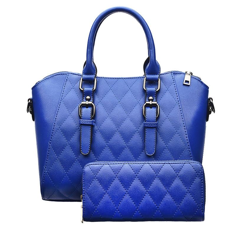 Patchwork Crossbody Composite Bags Embossing Women's Leather Handbags Shell Women's Shoulder Bags Bolsa Feminina Plaid Women Bag