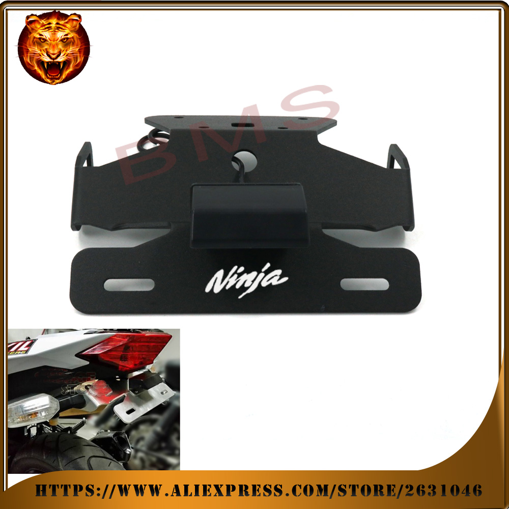 Motorcycle Tail Tidy Fender Eliminator Registration License Plate Holder bracket LED Light For KAWASAKI NINJA 250R 250 300 300R for suzuki gsx r600 k6 motorcycle fender eliminator license plate bracket tail tidy tag rear for suzuki gsxr750 k6 2006 2007