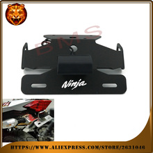 Motorcycle Tail Tidy Fender Eliminator Registration License Plate Holder bracket LED Light For KAWASAKI NINJA 250R 250 300 300R