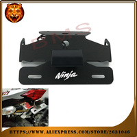 Motorcycle Tail Tidy Fender Eliminator Registration License Plate Holder Bracket LED Light For KAWASAKI NINJA 250R
