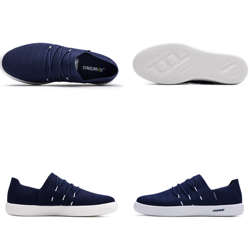 ONEMIX Women Lightweight Casual Shoes Slip on Breathable Mesh Upper Sneakers For Men zapatillas hombre in Men 39 s Casual Shoes from Shoes