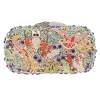 Different Animal Pattern Fine Upscale Evening Bag Prom Party Bag Wedding Clutch Cocktail Party Hard Case