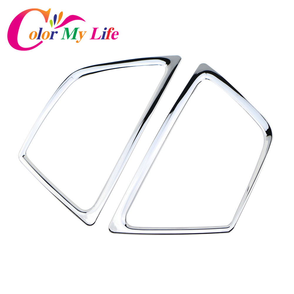 Color My Life ABS Chrome Front Fog Lamp Sticker Fog Lights Cover Fog Lamps Cover Case for Ford Ecosport 2012 - 2016 Accessories hot sale abs chromed front behind fog lamp cover 2pcs set car accessories for volkswagen vw tiguan 2010 2011 2012 2013