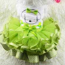 Cute Bow Dog Clothes Small Puppy Wedding Dog Dress Skirt Summer Spring Luxury Princess Pet Clothes Fruit Roupa Cachorro 30