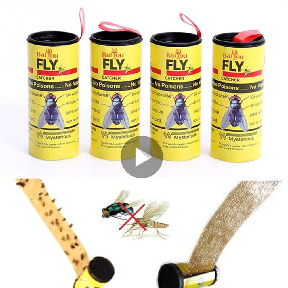 Dropshipping 4Rolls Fly Sticky Paper Strip Mosquitos Killer Catcher Non-toxic Pest Control Toxic Flying Insect CatcherDropshipping 4Rolls Fly Sticky Paper Strip Mosquitos Killer Catcher Non-toxic Pest Control Toxic Flying Insect Catcher