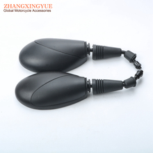 1 pair 8mm thread Black Rear View Mirror for GY6 50cc 125cc 150cc Chinese Scooter
