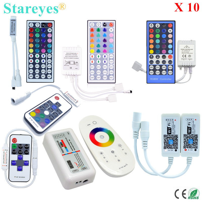 <font><b>10</b></font> Pieces LED strip RGB RGBW Remote controller IR 40 44 Key RF 11 17 Key 2.4G RF WIFI Control for SMD <font><b>5050</b></font> 3528 Strip light image