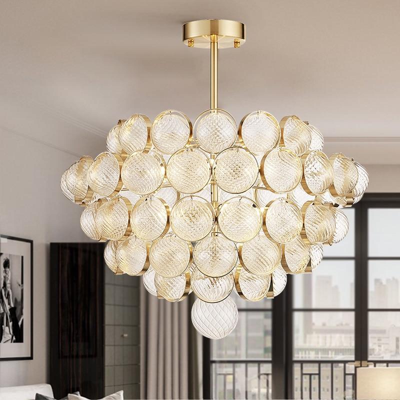 D60/80cm Post Modern Luxury glass Pendant lights lamps ...
