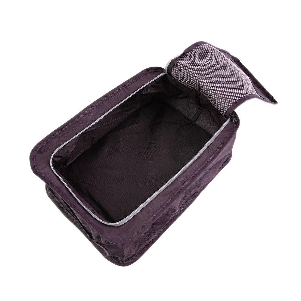 1 unid Maquillaje Organizador de Tela del Zapato de la Cremallera Bolsa de Almac
