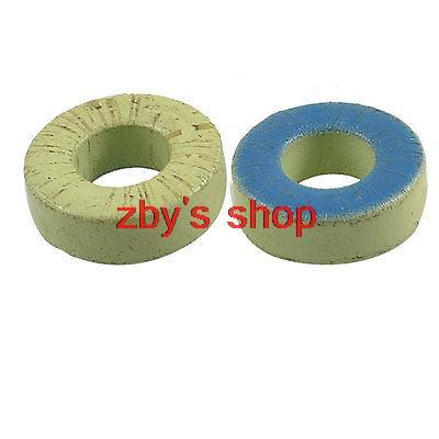 2 Pcs Green Blue Iron Power Ferrite Toroid Cores 1.3 x 0.6 x 0.5 transformers ferrite toroid cores green 74mm x 39mm x 13mm