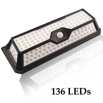 136/118/90/66/44 LED Solar Lamps for Garden Waterproof Outdoor Lighting LED Solar Light Motion Sensor 3 Mode Security Wall Light - DISCOUNT ITEM  30% OFF All Category