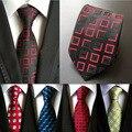 2016 новый классический плед мужские роскошные шелковые мужские галстуки проверено плед деловых свадебные британский плед cravatte seta 8 см галстук