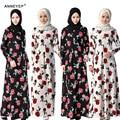 2016new moda as mulheres se vestem plus size jibabs abaya dubai kaftan muçulmano manga comprida waisted forma vestido printng robe vestuário árabe