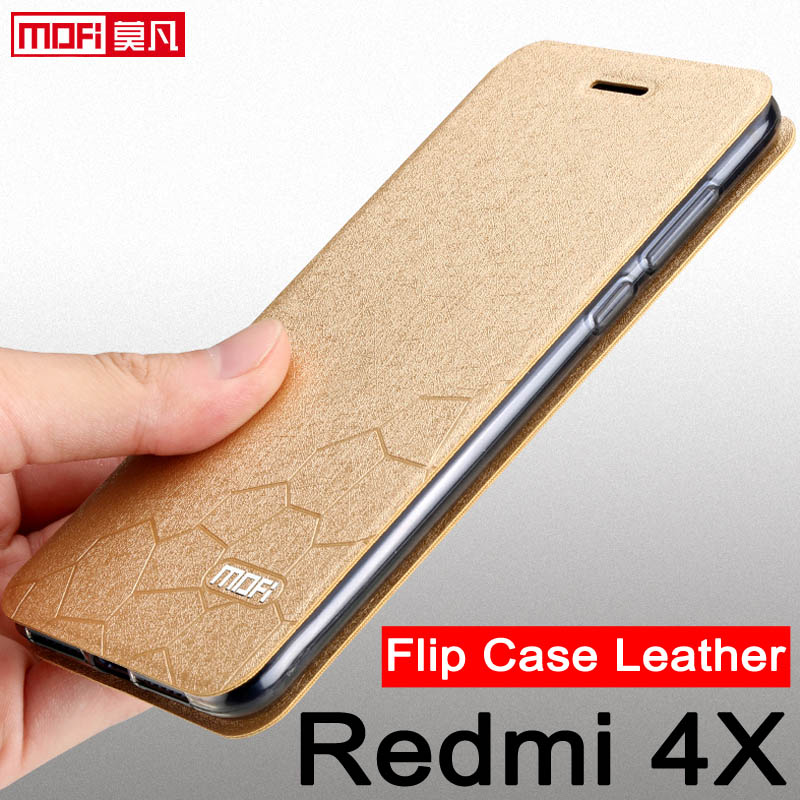 super popular 2c58a d77d4 Xiaomi Redmi 4X Case 5.0 Xiaomi Redmi 4X Cover Flip Book Leather Cover  Xiaomi Redmi 4X Pro Coque Silicone Luxury Glitter