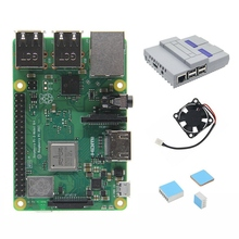 4 in 1 Raspberry Pi 3 Model B+(Plus) Board + Mini Nes Style Case/ Enclosure + Cooling Fan + Heatsinks цены