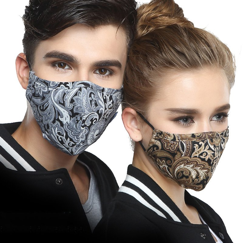 Korean Cotton Anti Dust Mouth Face Mask KN95 Kpop Unisex Maska With Carbon Filter Face Masks Anti PM2.5 Black Mouth-muffle Mask