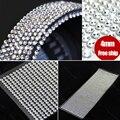 990 pcs 4mm Strass Diamantes Auto-adesivas Vara Em Cristais Miçangas Da Arte Do Prego de PRATA Carro