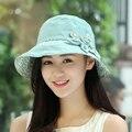 Anti-ultravioleta del sol-shading del sombrero protector solar sol verano femenino del sombrero de las mujeres sombrero del cubo sombreros de cubo