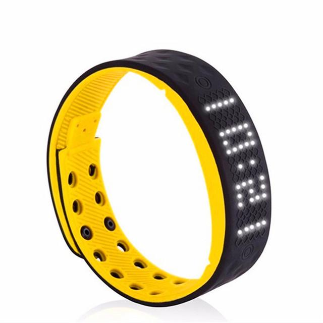 Nova TW2 Relógio Inteligente LED Branco Sports Tracker Alarme Do Monitor da Caloria Pedômetro Saúde-resistente à Água Relógio Inteligente Pulseira