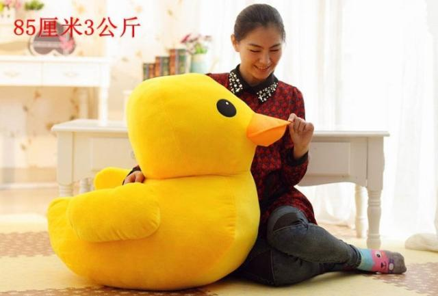 large 85cm cartoon yellow duck plush toy soft hugging pillow toy birthday gift  h578 rovertime rovertime rtm 85