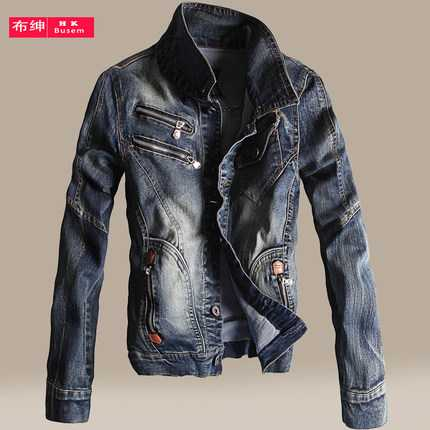2016 Vintage Denim font b Jacket b font font b Mens b font Fall Fashion font