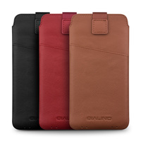 QIALINO Cowhide Flip Bag For Samsung C7 Pro Pure Handmade Cover Genuine Leather Card Slot Pouch