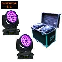2IN1 Flightcase Pack 36x10W Martin Lighting RGBW 4IN1 Led Wash Moving Head Light DMX512 Control 15CH 25 Degree High Power Wash