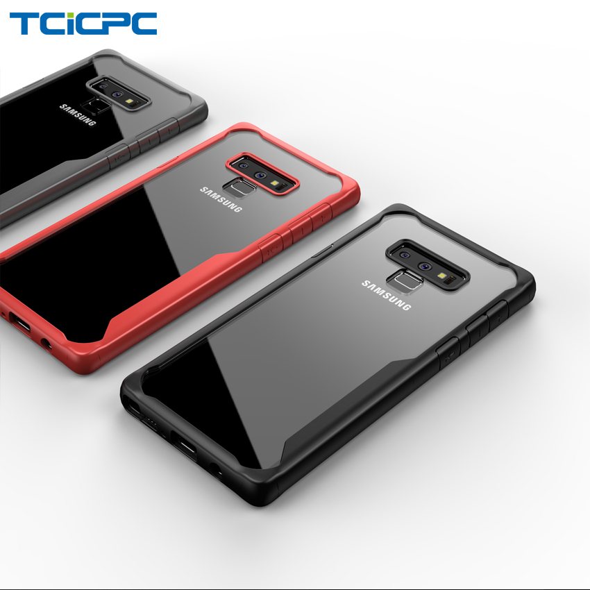 TCICPC For Samsung Galaxy Note 9 case Samsung Note 9 case  cover acrylic transparent back cover phone cases for Galaxy Note 9