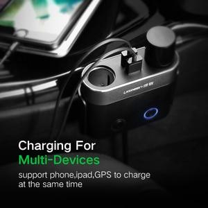 Image 2 - Ugreen çift USB araba şarjı desteği araba kaydedici evrensel cep telefonu araç şarj cihazı genişletici ile iphone şarj cihazı 6S Samsung