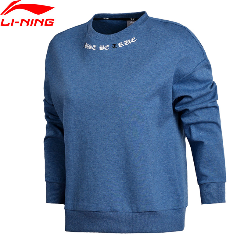 Trainings- & Übungs-sweater Li-ning Frauen Die Trend Pullover Warme Fleece Lose Fit 66% Polyester 34% Baumwolle Futter Sport Tops Sweatshirts Awdn808 Sport & Unterhaltung