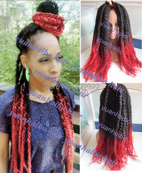 New Ombre Cinnamon Red Marley Braid Hair 100 Kanekalon Synthetic Twists Free Fast