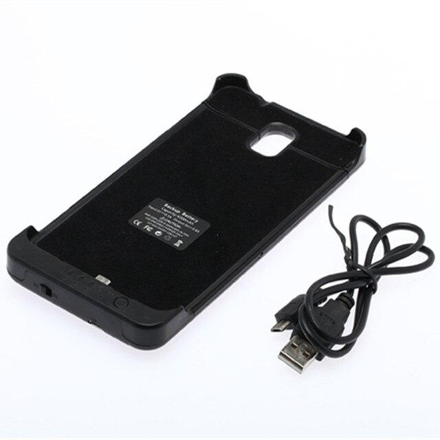 4200 мАч Внешняя Батарея Резервного Копирования Зарядное Дело Power bank Обложка для Samsung Galaxy NOTE 3 N9000 N9002 N9005 Black & White
