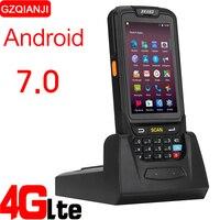 КПК, сканер штрих кода 1D 2D Bluetooth Android портативный терминал прочный КПК Беспроводной мобильный 1D сканер штрих кода сбора данных