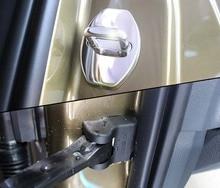 4pc for SKODA KODIAQ Door lock cover Protective cover Spacing cap waterproof dustproof car engine battery dustproof cover negative electrode waterproof protective shell w ac cover for skoda kodiaq 2016 2018 for vw