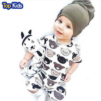 2018 Summer Cartoon Print Baby Girl Clothes Kid Jumpsuit Baby Boy Body Suit Clothing Short Sleeve Romper MBR0125 1