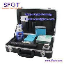 Toalla de limpieza de fibra óptica caja de herramientas de fibra óptica FTTH caja de herramientas kit de baño