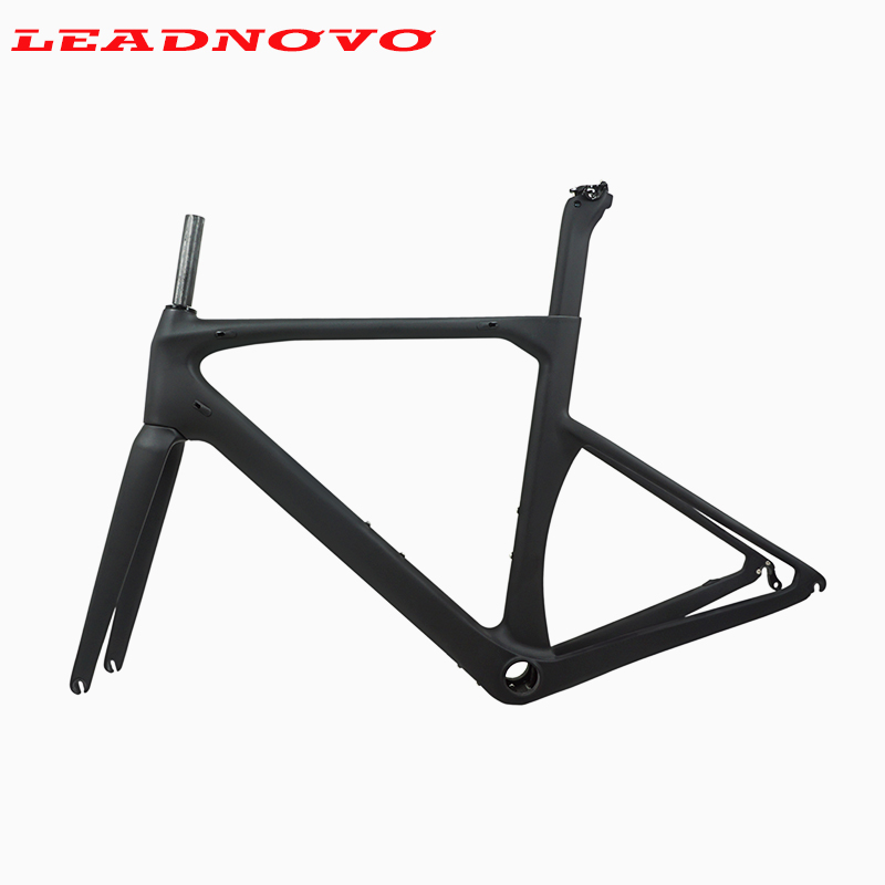 Carbon Road Frame 2019 Newly Carbon Fibre Racing Bicycle Frame UD Glossy Matte BB386 For DI2 Mechanical Frame RACING Bike Set