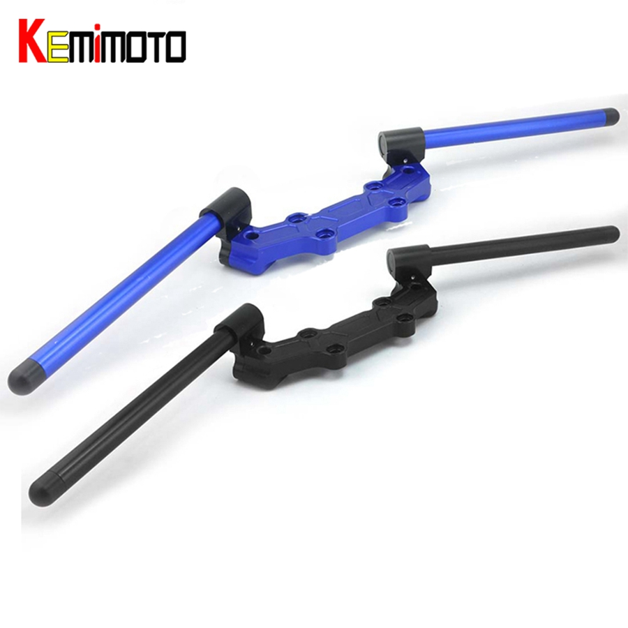 KEMiMOTO For YAMAHA MT-09 FZ-09 MT 09 MT09 2014 2015 2016 Motorcycle Accessories Adjustable Handlebars Handle Bar With Clamp Kit for yamaha mt 07 mt 07 fz07 mt07 2014 2015 2016 accessories coolant recovery tank shielding cover high quality cnc aluminum